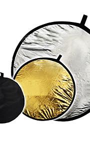 """32 """"2 in1 prata dourada disco dobráveis 80 centímetros refletor"""