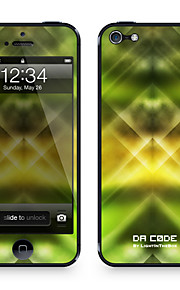 "Codice Da ™ Pelle per iPhone 5/5S: ""Green Lights Danza Pattern"" (Abstract Series)"
