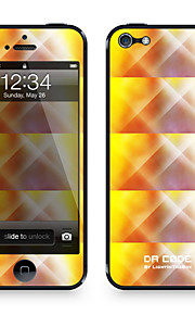 "Codice Da ™ Pelle per iPhone 5/5S: ""Giallo Danza luci Pattern"" (Abstract Series)"