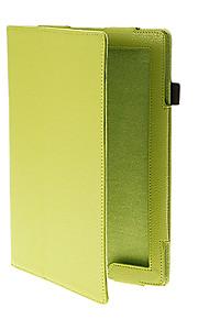 Solid Color Tabby Pattern Quality PU Full Body sak med stativ for iPad Air (assorterte farger)