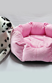 Warm Comfortable Round Shaped Bed for Pets Dogs (Assorted Colors, 45x35x15cm)