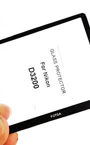 fotga® prémio LCD do painel de tela de vidro protetor para Nikon D3200