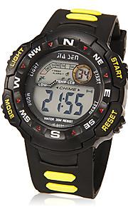 Masculino Relógio Esportivo Digital LCD / Calendário / Cronógrafo / Impermeável / alarme Borracha Banda Preta marca-
