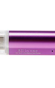 4-i-1 USB 2.0 Multi-Card Reader (Purple / Black)
