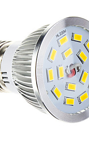 e26 / e27 w 15 smd 5730 100-550 lmcool / varm hvit dimbare spotlights ac 220-240 v