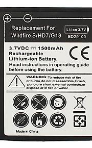 1500mAh telefone celular para HTC Wildfire S HD7 HD3 G13