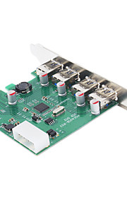 PCI-E zu 4 x USB 3.0 Erweiterungskarte (Schwarz)