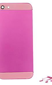 Fuchsia Metal Alloy Back Battery Housing with Button and Pink Glass For iPhone 5