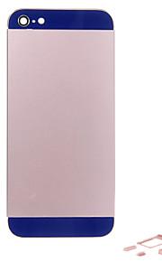 Rosa Liga de Metal Voltar Bateria Caixa com Button e Vidro da Marinha para o iPhone 5