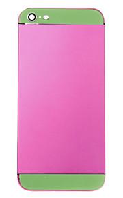 Fuchsia Liga de Metal Voltar Bateria Caixa com vidro verde para o iPhone 5