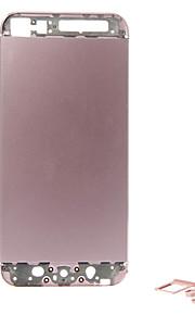 Rosa liga de metal da bateria Voltar Habitação com botões para iPhone 5