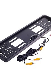 XY-1650 Car License Plate Rearview Camera w/ 4-LED Night Vision for Europe