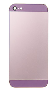 Rosa Liga de Metal Voltar Bateria Caixa com vidro roxo para iPhone 5