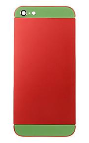 Red Liga de Metal Voltar Bateria Caixa com vidro verde para o iPhone 5