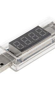 PortableVoltage and Current Detector with USB Port (Transparent White)