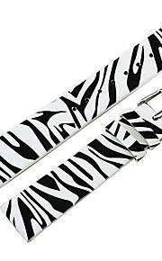18 milímetros Zebra-listra do couro genuíno das mulheres faixa de relógio