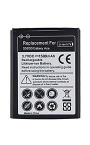 Vervanging van 3.7V 1500mAh Li-ion batterij voor Samsung Galaxy Galaxy Ace/S5830.
