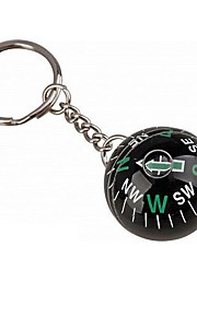 Ball Style  Compass Keychain - Black