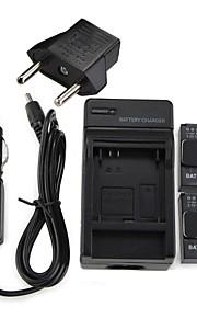 2 x(1050mah) AHDBT-301/201 Battery +1pcs Charger+1pcs EU Plug Adapter For GoPro 3 & 3+