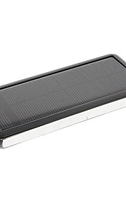 12800mAh Multi-Output Solar External Battery Black for Mobile Devices