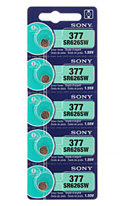 Sony 377 SR626SW Horloge Battery Cell Button Silver Oxiden Box Retail Card Blister (5st)