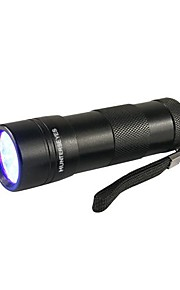 Belysning LED Lommelygter Ultraviolette lommelygter Lommelygter LED Lumen 1 Tilstand 5mm Lampe AAA Vanntett Ultraviolet lys