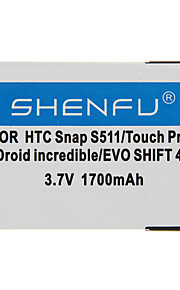 Shenfu 1700mAh Mobil batteri till HTC Snap S511/Touch Pro2 Droid Incredible / EVO Shift 4G