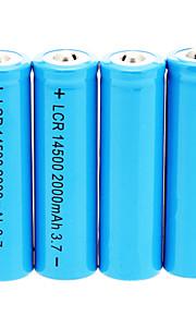 2000mAh 14500 bateria (4 peças)