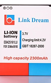 Link Dream High Quality 3.7V 2300mAh mobiele telefoon batterij voor Samsung Galaxy S3 Mini GT-i8190 I8160 (EB425161LU)