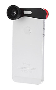 180 graden Fish Eye groothoek en Macro Lens 3-in-1 Quick-Change Camera Lens voor iPhone 5