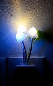 Night Light LED Light Sensor RGB fargerike drømmen Mushroom