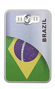 Il portatile 6000mAh Banca di potere di Coppa del Mondo con 4 in1 Connector (5V 1A, 5V 2A) (Brasile)