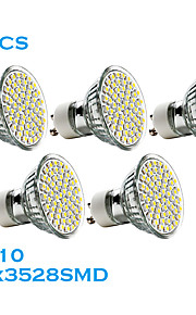 GU10 - 2.5 W- MR16 - Spotlights (Warm White 240 lm- AC 220-240 V- 5 stk