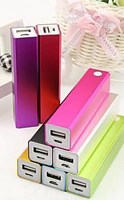 cuboid design power bank för iphone 6/6 plus / 5 / 5s / samsung S4 / S5 / note2 (2600mAh)
