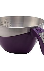 5KG/11LB Portable Digital Kitchen Scale EK6550H (Assorted Colors)