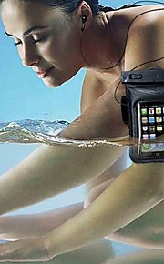 Universal Armband Waterproof Case Bag + Clear LCD Protector + Headphone Cabo de Áudio para iPhone 3 / 4/4S 5/5S/5C