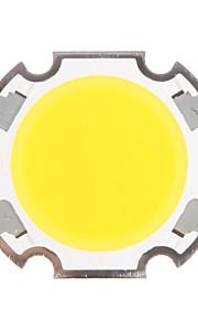 5W COB 450-500LM 3000K varm hvit lys LED Chip (15-17V, 300uA)