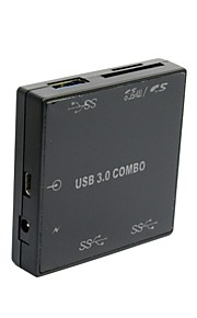 dimensioni ultra 5Gbps combo 3 porte USB 3.0 hub con lettore di sd tf t-flash micro sd card scrittore per laptop macbook