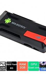 Quad Core Android Mini PC TV Cloud Stick   MK809IV