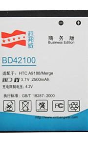 bateria de substituição li-ion 3.7v 2500mAh alta capacidade para HTC bd42100 / a9188