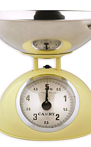 Camry Mechanical Kitchen Scale Commercial Balance with Stainless Steel Bowl(5KG,10G)