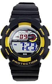 desportivo faixa de relógio de pulso digital de silicone dos homens (cores sortidas)