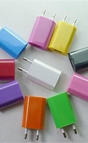 아이폰 6 아이폰 6에 대한 USB2.0 여행 충전기 어댑터 유럽 연합 (EU)의 AC 플러그 플러스 / 삼성 및 기타 (모듬 색상)