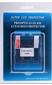 professionel LCD-skærm protektor optisk glas særligt for Nikon D200 DSLR-kamera