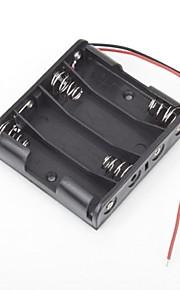 4 verpakkingen standaard batterij doos slot houder geval voor aa 2a batterijen stapelen 6v 4 stuks