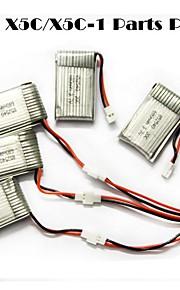 SYMA x5c / x5c-1 opdagelsesrejsende dele x5c-11 3.7v 500mAh opdatering 3.7v 680mah LiPo batteri 3 i 1 kabel linje x 5pcs