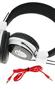 WZS-ergonomico hi-fi cuffia stereo con microfono (nero + bianco)