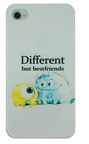 Monsters Pattern PC Hard Back Cover Case for iPhone 4/4S
