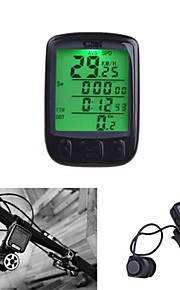 Waterproof 28 Multifunction Wireless Bike Bicycle Cycling Computer Odometer Speedometer LCD Backlight Backlit Computer