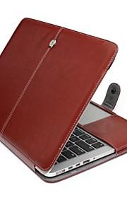 """effen kleur pu leer full body case voor macbook pro retina 13 """""""